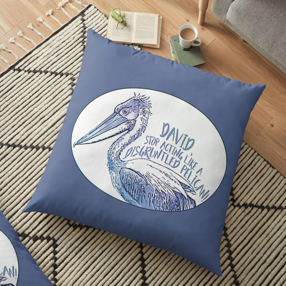 Schitt's Creek Disgruntled Pelican Floor Pillow