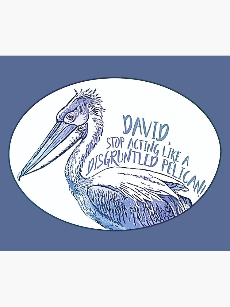 Schitt's Creek Disgruntled Pelican by stephensking