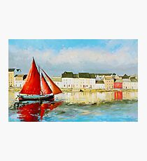 Leaving Port - Galway Hooker going out to sea Photographic Print