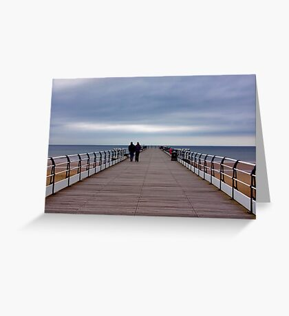 Walking on the Pier Greeting Card