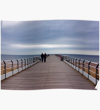 Walking on the Pier Poster