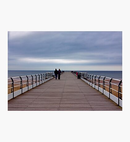 Walking on the Pier Photographic Print