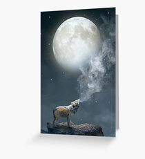 The Light of Starry Dreams (Wolf Moon) Greeting Card