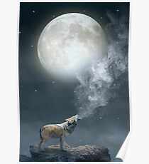 The Light of Starry Dreams (Wolf Moon) Poster