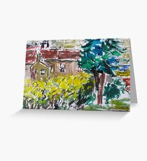 Garden tree house simple life Greeting Card