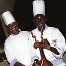 Chefs - Victoria Falls, Zimbabwe by Bev Pascoe