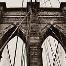 Brooklyn Bridge Arches by Astrid Ewing Photography