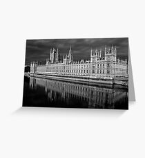 Palace of Westminster, London Greeting Card