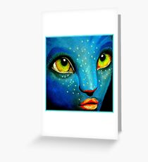 Blue Wonder Greeting Card