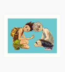 Hunter x art prints redbubble hxh gon killua art print voltagebd Gallery