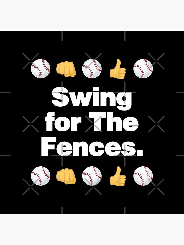 Swing for the Fences Emoji Baseball Saying by el-patron