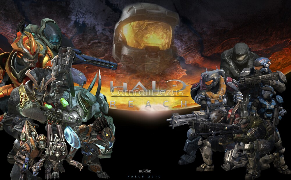 Halo: Reach Poster (With Text) by CornrowJezus