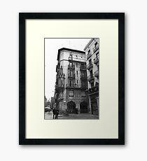 Barcelona Plaza Framed Print