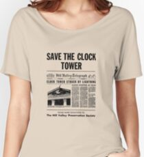 Back to the future - Save the clock tower ! Women's Relaxed Fit T-Shirt
