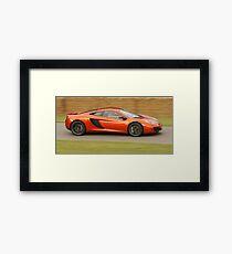 McLaren MP4-12c - Jenson Button Framed Print