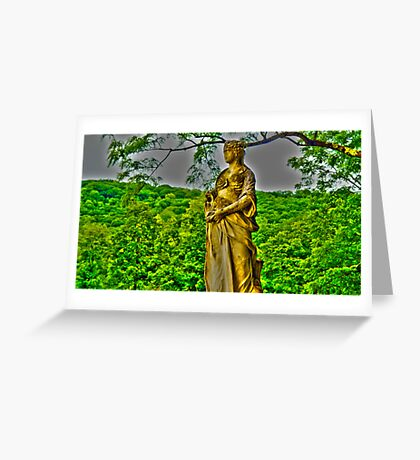 HDR Statue Greeting Card