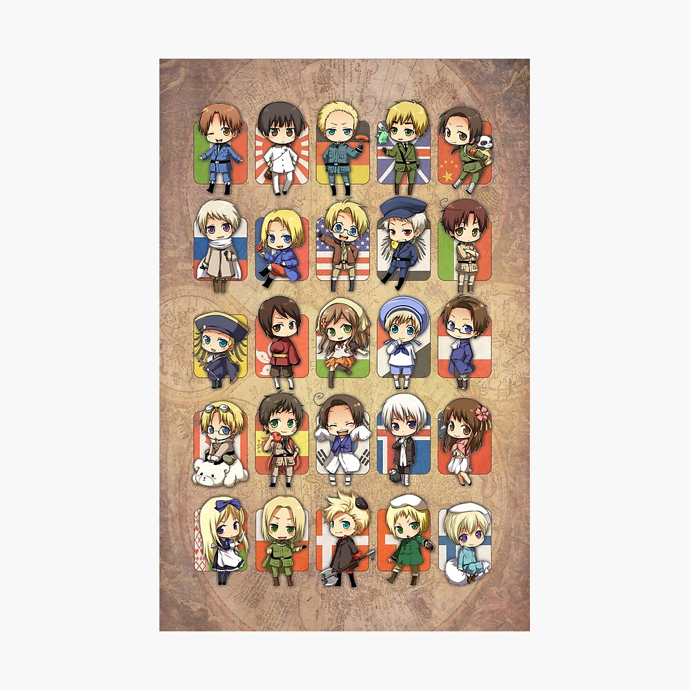 Hetalia Group Fotodruck