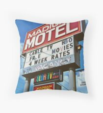 Classic motel sign Throw Pillow