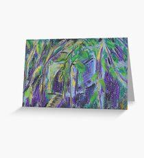 Birdhouse in Hiding (pastel) Greeting Card