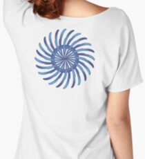 blue spin flower Women's Relaxed Fit T-Shirt