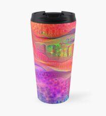 DeepDream Tomato Steelblue Travel Mug