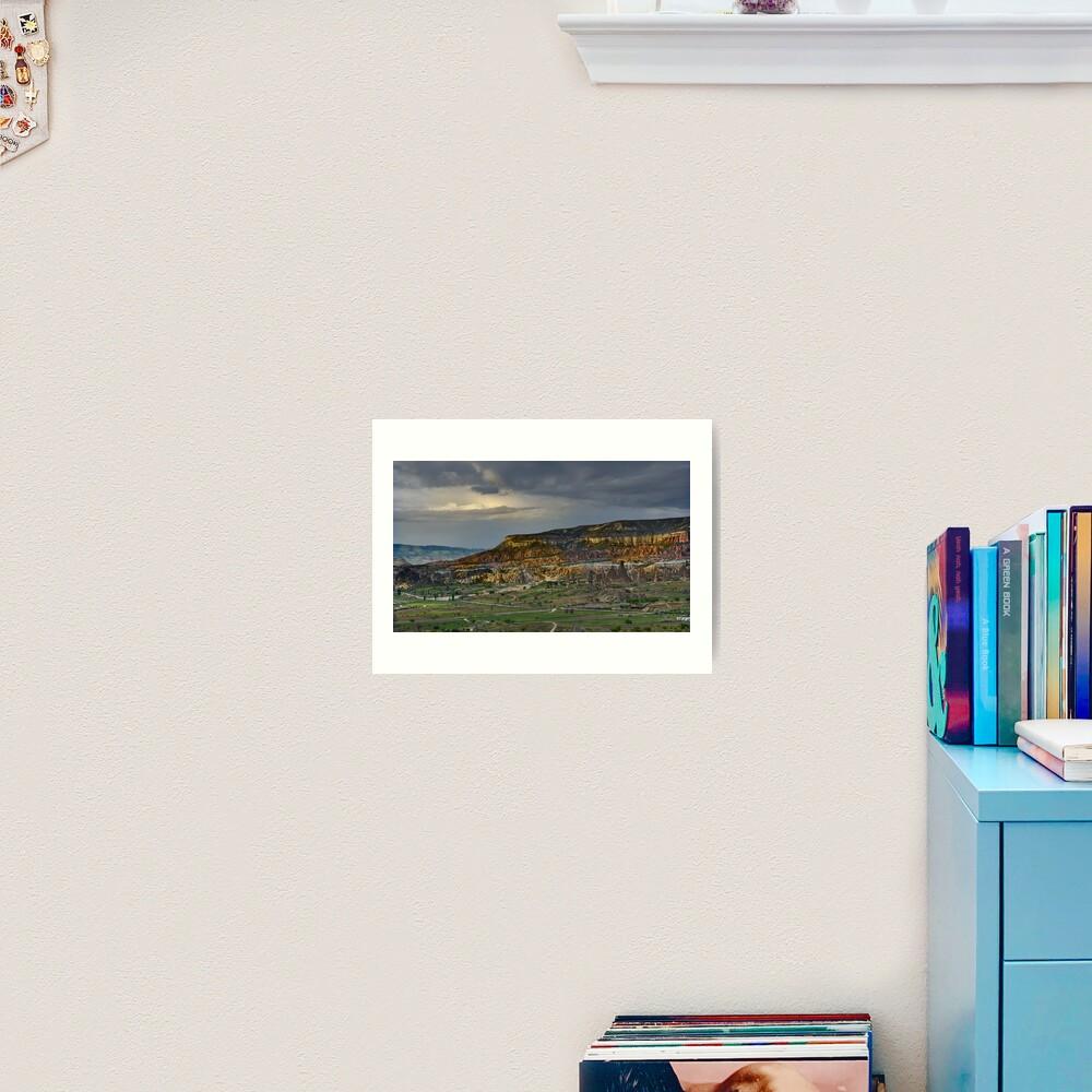 Red Hills, Cappadocia Art Print