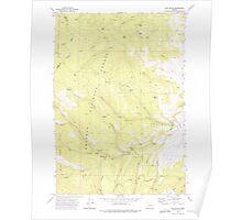 USGS Topo Map Oregon Rail Gulch 281218 1972 24000 Poster