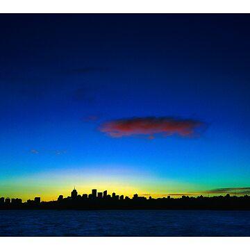 Night & Day: North Sydney Skyline by whosekidding