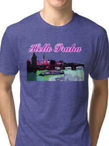 Beautiful Praha castle and karls bridge art Tri-blend T-Shirt