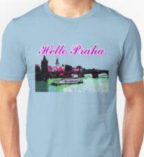 Beautiful Praha castle and karls bridge art Unisex T-Shirt