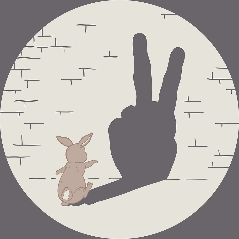 Peace Bunny by clevercreature