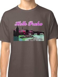 Beautiful Praha castle and karls bridge art Classic T-Shirt
