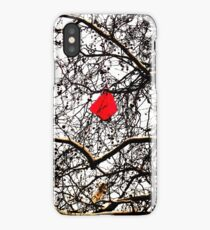 Deflated Red Balloon in a Tree iPhone Case/Skin
