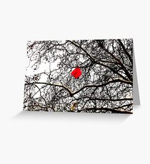 Deflated Red Balloon in a Tree Greeting Card