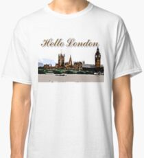 Beautiful London Bigben& Thames river art Classic T-Shirt