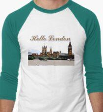 Beautiful London Bigben& Thames river art Men's Baseball ¾ T-Shirt