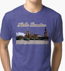 Beautiful London Bigben& Thames river art Tri-blend T-Shirt