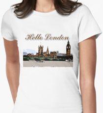 Beautiful London Bigben& Thames river art Women's Fitted T-Shirt