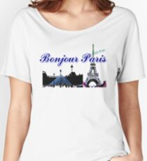 Beautiful  Luvoure museum ,Effel tower Paris france graphic art Women's Relaxed Fit T-Shirt