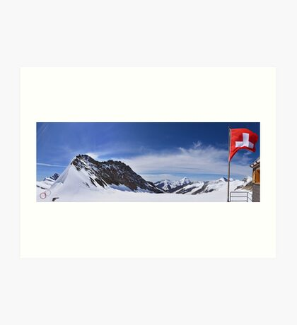 Jungfraujoch Views - the Spirit of Switzerland Art Print