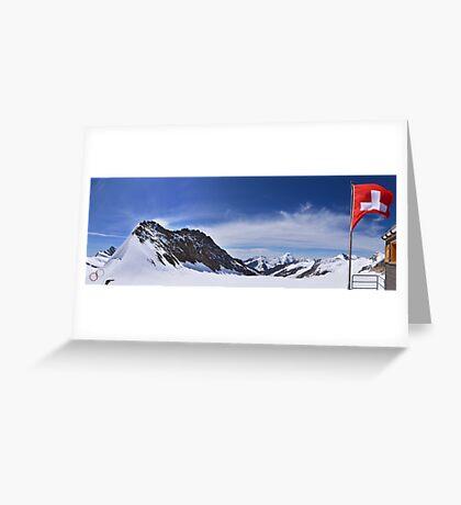 Jungfraujoch Views - the Spirit of Switzerland Greeting Card