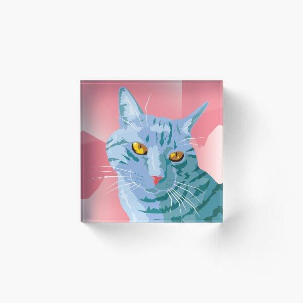 Blue Cat Acrylic Block