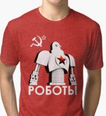 РОБОТЫ - Comrades of Steel, Version 1B.1 Tri-blend T-Shirt