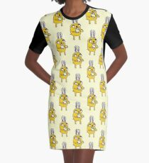 Easter Bunny Jake - Adventure Time Graphic T-Shirt Dress