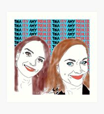 Tina Fey & Amy Poehler  Art Print