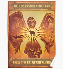 BioShock Infinite – The Tower Protects the Lamb from the False Shepherd Poster Poster