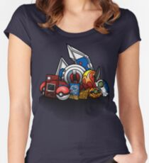 Anime Monsters Women's Fitted Scoop T-Shirt