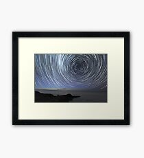 Flinders Star Trails: Ring Effect Framed Print
