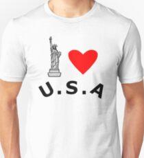 Camiseta unisex I Heart United States of America