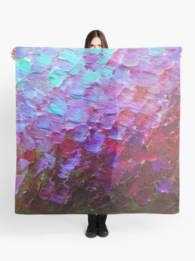 Meerjungfrau Waagen Bunte Ombre Abstrakte Acryl Impasto Malerei